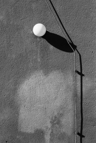 a light casting a shadow