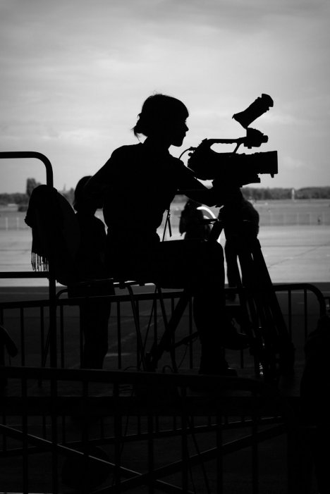 silhouette of a camera