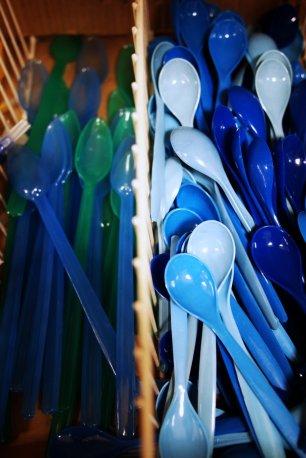 spooning in blue