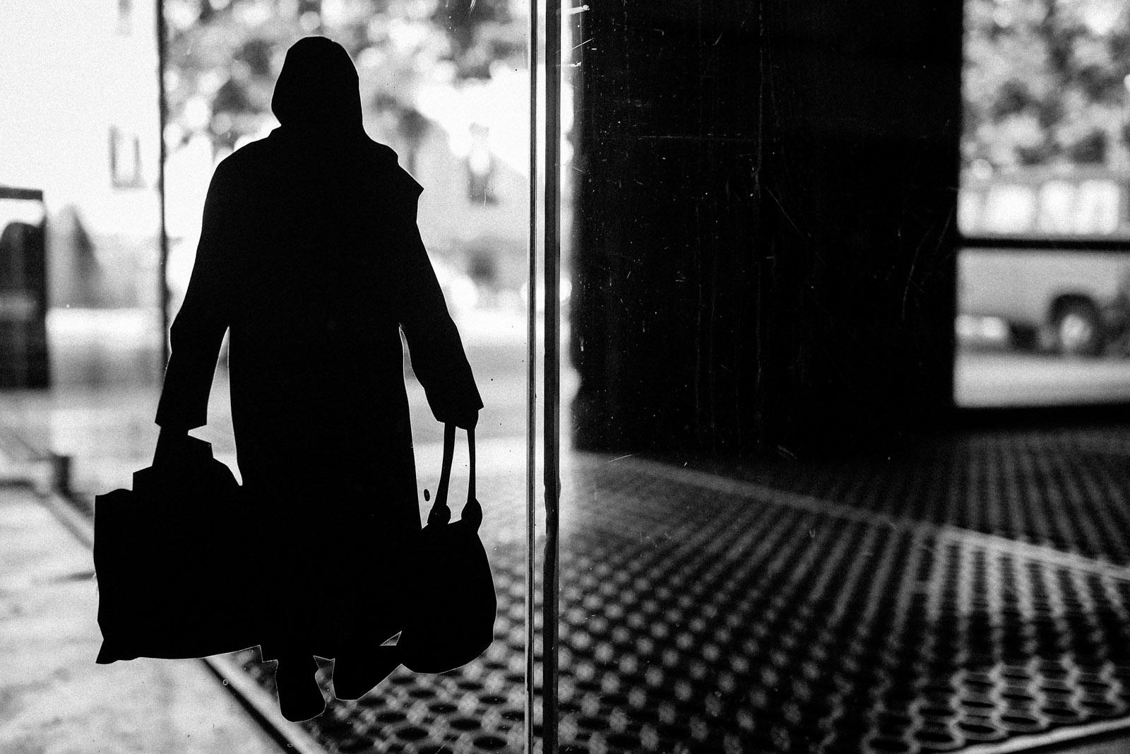 silhouette, homeless